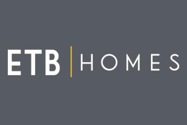 Logo for ETB Homes